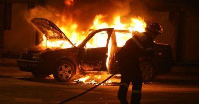 Lugoj Expres Mașina unui polițist lugojean, incendiată pompieri polițist mașină Lugoj incendiată