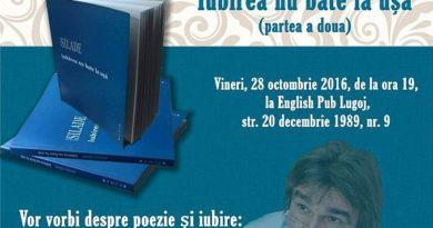 """Lugoj Expres Lansare de carte la English Pub: """"Iubirea nu bate la uşă"""" (partea a doua), de Nicolae Silade Nicolae Silade lansare de carte Iubirea nu bate la ușă English Pub Lugoj"""