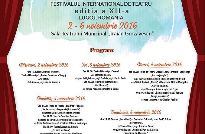 """Lugoj Expres Cinci zile de """"FestteamArt"""",  la Lugoj. Programul Festivalului Internaţional de Teatru Teatrul Municipal """"Traian Grozăvescu"""" Lugoj Festivalul internaţional de teatru de la Lugoj actorii lugojeni """"FestTeamArt"""""""