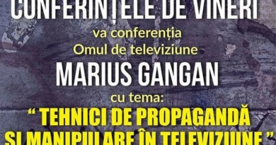 Lugoj Expres Tehnici de propagandă și manipulare, la... Conferințele de vineri tehnici de propagandă și manipulare prin televiziune Marius Gangan Ion Oprișor Conferințele de vineri Anotimpuri