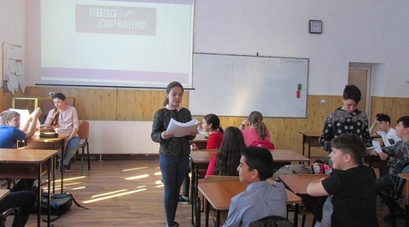 "Lugoj Expres Stop Bullying#Iulia Hasdeu Stop Bullying#Iulia Hasdeu Fără ură cu toleranță comportament agresiv Colegiul Național ""Iulia Hasdeu"" Lugoj"