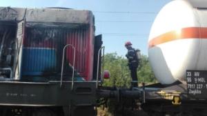 Lugoj Expres Pericol pe calea ferată! O locomotivă care tracta șase cisterne cu butan gaz a luat foc în mers (FOTO) tren pericol locomotivă în flăcări incendiu explozie calea ferată   Lugoj Expres Pericol pe calea ferată! O locomotivă care tracta șase cisterne cu butan gaz a luat foc în mers (FOTO) tren pericol locomotivă în flăcări incendiu explozie calea ferată   Lugoj Expres Pericol pe calea ferată! O locomotivă care tracta șase cisterne cu butan gaz a luat foc în mers (FOTO) tren pericol locomotivă în flăcări incendiu explozie calea ferată