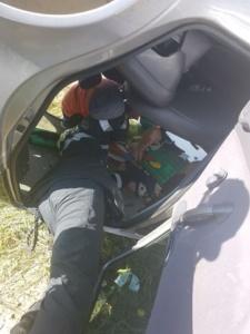 Lugoj Expres Șoferiță încarcerată, după ce s-a răsturnat cu mașina, lângă Făget victimă șoferiță mașină răsturnată femeie încarcerată Făget Brănești accident