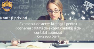 Lugoj Expres Examen pentru obținerea calității de expert contabil și de contabil autorizat expert contabil examen cursuri de pregătire contabil autorizat CECCAR Timiș