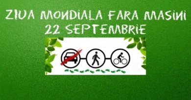 Lugoj Expres Ziua fără mașini. Circulația rutieră va fi restricționată, timp de o oră, în centrul Lugojului ziua fără mașini sâptămâna mobilității mobilitate urbană mijloace de transport circulație restricționată campanie