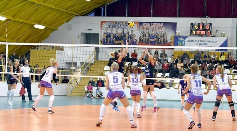 Lugoj Expres CSM Lugoj, tot mai aproape de play-off. A câștigat un punct și cu CSM Târgoviște volei play-off Divizia A1 Dinamo CSM Târgoviște CSM Lugoj