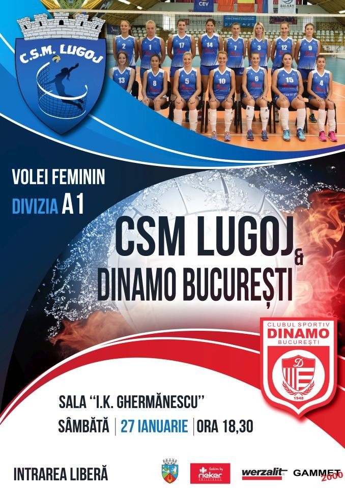 Lugoj Expres CSM Lugoj întâlnește Dinamo, într-un joc pentru... ultimul loc în play-off volei play-off meci important Divizia A1 Dinamo Bucure;ti CSM Lugoj