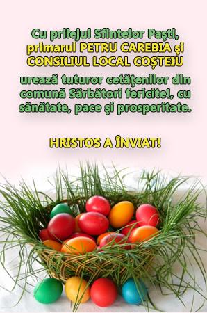 Felicitare Primaria si Consiliul local Costeiu