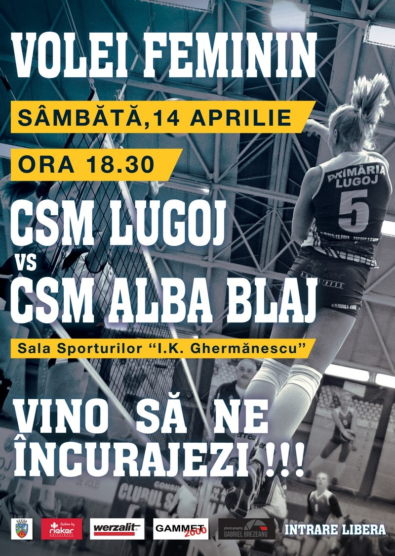 Lugoj Expres Invitație la volei! CSM Lugoj întâlnește tripla campioană CSM Volei Alba Blaj Volei Alba Blaj volei spectacol voleibalistic meci Divizia A1 CSM Lugoj