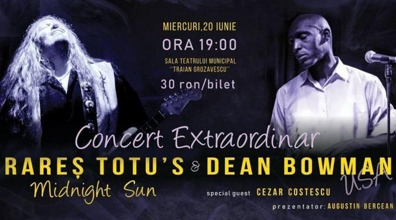 Lugoj Expres Concert extraordinar: Rareș Totu's Midnight Sun feat & Dean Bowman Rareș Totu's Midnight Sun Rareș Totu Dean Bowman concert extraordinar concert