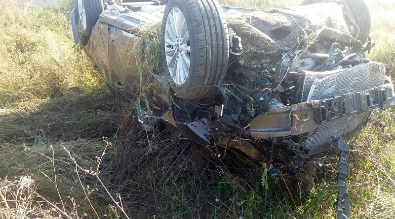 Lugoj Expres Autoturism răsturnat, pe autostrada A1 mort la volan mașină răsturnată coliziune Bethausen autostrada A1 accident