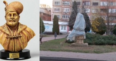 Lugoj Expres Bustul lui Mihai Viteazu, dezvelit în Parcul Poștei primăria lugoj Parcul Poștei Mihai Viteazu Lugoj dezvelire centenarul Marii Uniri bust Mihai Viteazu bust