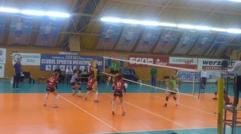 Lugoj Expres Victorie fără emoții pentru prim-divizionara CSM Lugoj volei feminin volei victorie prima ligă Divizia A1 CSU Belor Galați CSM Lugoj