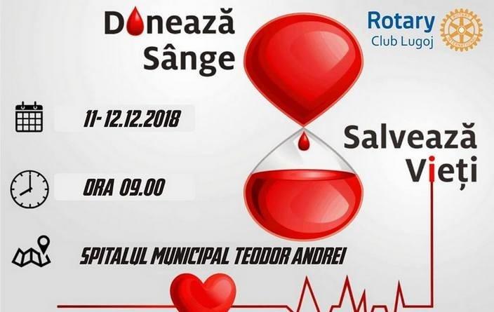 Lugoj Expres O nouă acțiune de donare de sânge sânge salvează vieți Rotary Lugoj Rotary donează sânge donare campanie Rotary
