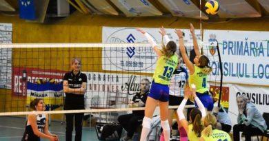 Lugoj Expres CSM Lugoj, victorie de trei puncte la Galați voleibaliste volei victorie meci Divizia A1 CSU Belor Galați CSM Volei Alba Blaj CSM Lugoj