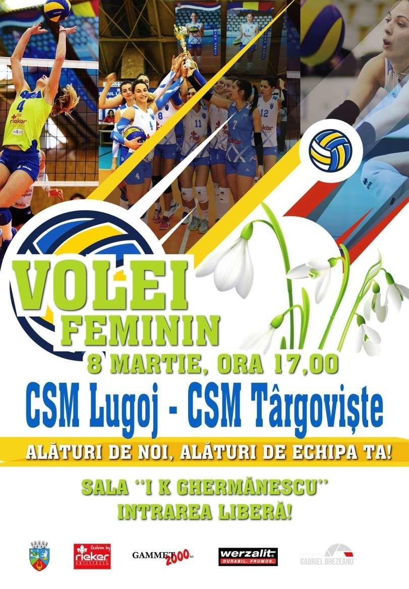 Lugoj Expres Invitație la volei: CSM Lugoj - CSM Târgoviște volei prima ligă meci Divizia A1 CSM Târgoviște CSM Lugoj