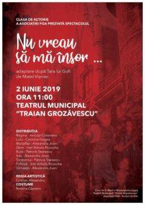 """Lugoj Expres Asociația FOA invită lugojenii la teatru Ziua Copilului Teatrul Municipal """"Traian Grozăvescu"""" Lugoj teatru spectacol Fusion of Arts FOA cadou artistic actorie"""