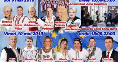 Lugoj Expres Patru zile de petreceri, în centrul Lugojului Ziua Europei spectacol serbările verii petreceri Nicu Novac Nicoleta Voica muzică populară Lugoj foc de artificii eveniment concerte