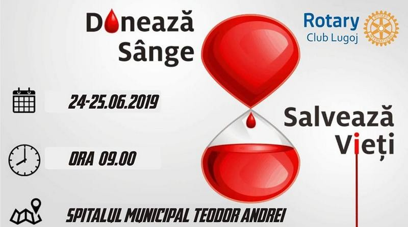 """Lugoj Expres Rotary continuă campania """"Donează sânge, salvează vieți!"""" spitalul Lugoj sânge salvează vieți Rotary Lugoj Rotary donează sânge donare campanie"""