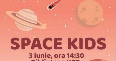 "Lugoj Expres ""Space Kids"" la Biblioteca UPT UPT Universitatea Politehnica Timișoara tehnologii spațiale space kids biblioteca"