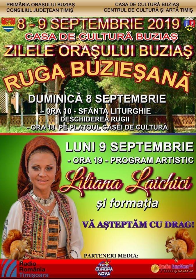 Lugoj Expres Zilele orașului Buziaș - Ruga buzieșană zilele orașului spectacol folcloric sărbătoare ruga buzieșană petrecere muzică populară Liliana Laichici Buziaș