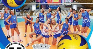 Lugoj Expres Invitație la volei: CSM Lugoj - U NTT Data Cluj volei feminin volei victorie Universitatea NTT Data Cluj prima ligă meci Divizia A1 CSM Lugoj
