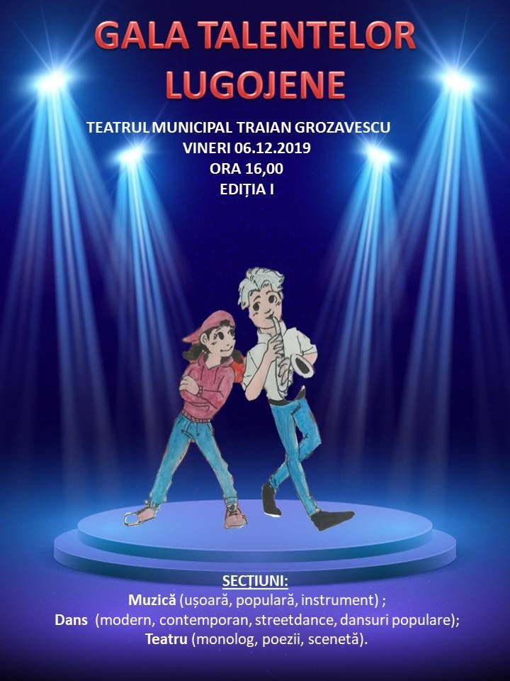 Lugoj Expres Gala talentelor lugojene - ediția I teatru talente muzica Lugoj gala talentelor lugojene gală dans Clubul Copiilor Lugoj