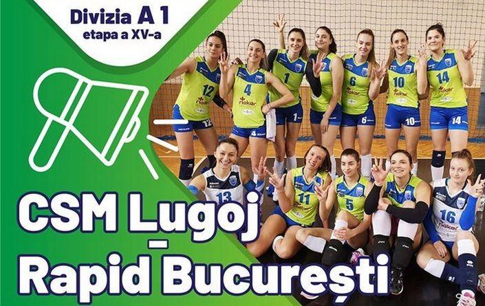 Lugoj Expres CSM Lugoj vrea revanșa cu Rapid București volei feminin volei revanșă Rapid București prima ligă Lugoj Divizia A1 CSM Lugoj