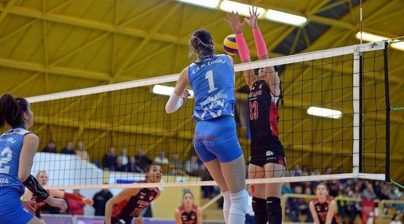 Lugoj Expres CSM Lugoj a încheiat prima fază a campionatului Diviziei A1 pe locul 5 volei feminin Volei Alba Blaj volei play-off Lugoj locul 5 Divizia A1 CSM Lugoj