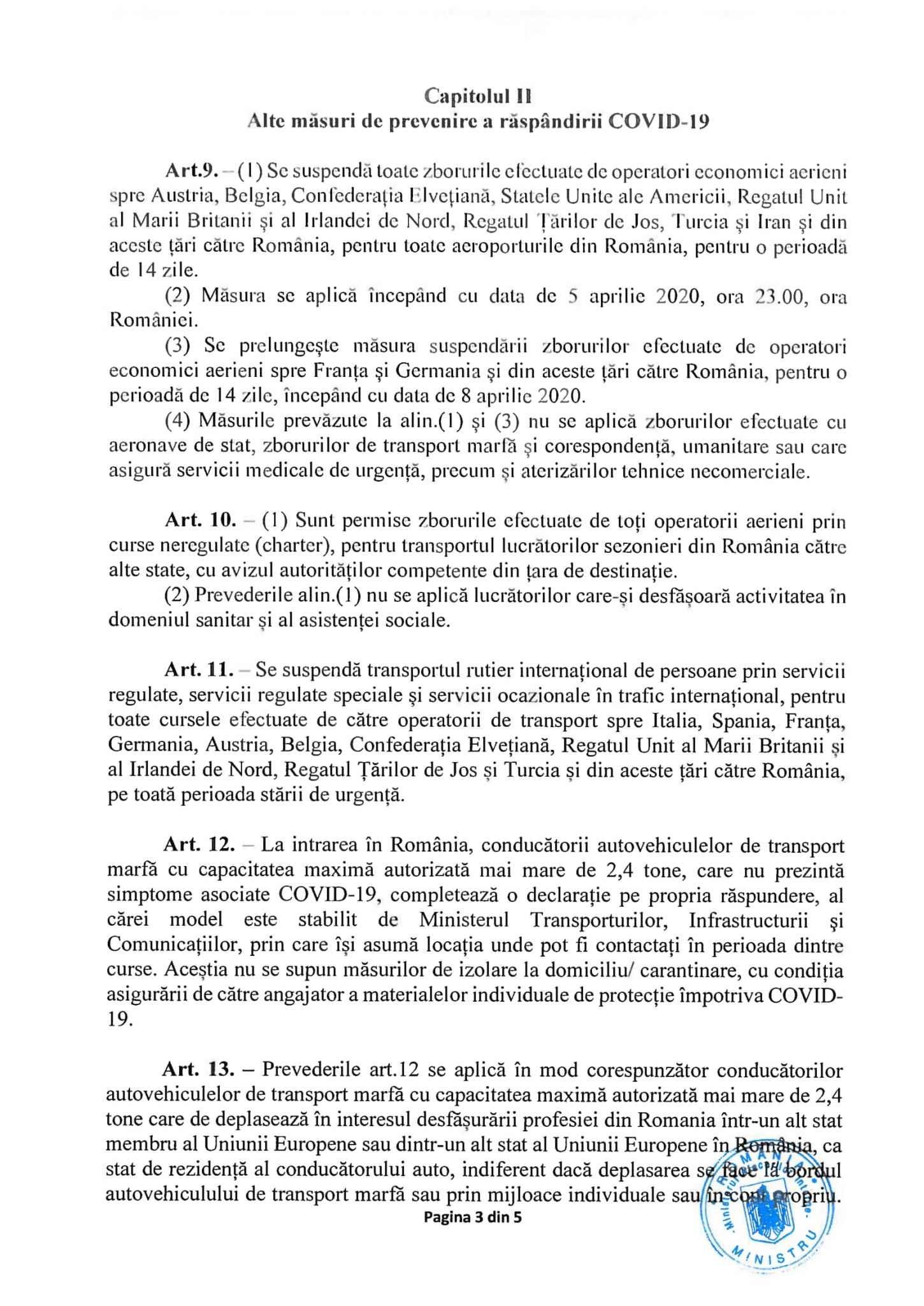 Lugoj Expres Ordonanța Militară nr. 7: Se impun noi restricții în lupta cu COVID-19 zboruri anulate Țăndărei prevenire ordonanța militară nr. 7 ordonanță militară măsuri Ialomița COVID 19 carantină autoriăți