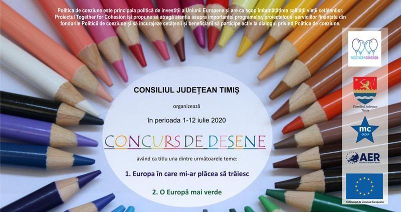 Lugoj Expres Concurs pentru elevi! CJ Timiș vrea să afle cum vor elevii să arate Uniunea Europeană Uniunea Europeană Timiș proiect premii elevi desene concurs de desene concurs CJT