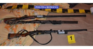 Lugoj Expres Percheziții în apropiere de Lugoj. Polițiștii au confiscat arme și cartușe confecționate artizanal Timiș percheziții muniție Lugoj descinderi Brestovăț Belinț arme