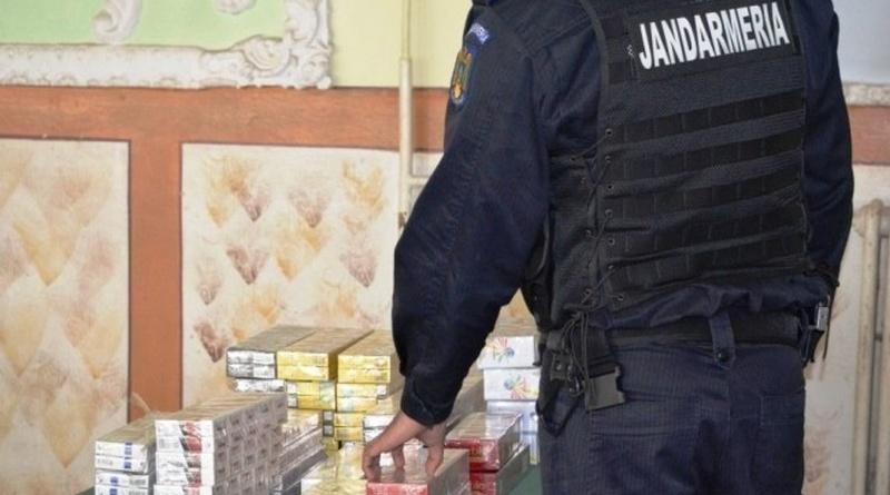 """Lugoj Expres Contrabandist de țigări, prins în Piața agroalimentară """"Timișul"""" din Lugoj țigări produse de contrabandă piața din Lugoj jandarmi contrabandist comerț ilicit"""