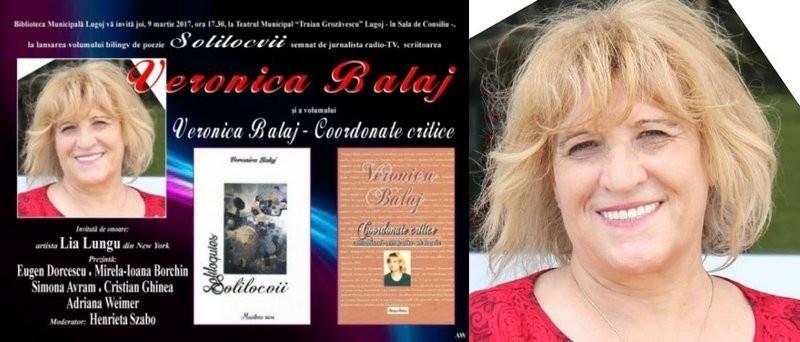 Lugoj Expres Eveniment editorial: Veronica Balaj - dublă lansare de carte, la Lugoj Veronica Balaj Solilocvii poezie Lugoj lansare de carte eveniment editorial