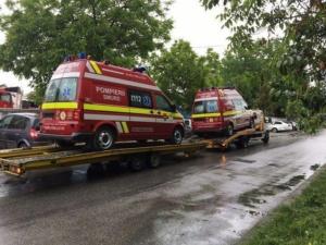 Lugoj Expres Autospeciale noi pentru ISU Banat și Serviciul de Ambulanță Timiș utilaje predare ISU Banat Consiliul Județean Timiș ambulanțe