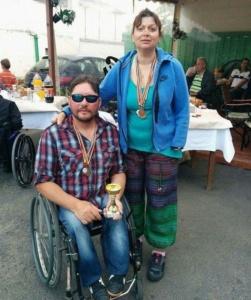 """Lugoj Expres Salbă de medalii pentru Clubul """"Maraton'93"""" Lugoj la Cupa Danubius persoane cu dizabilități Maraton '93 Lugoj Cupa Danubius"""