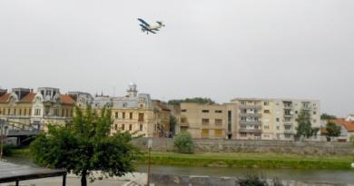 Lugoj Expres Primăria Lugoj mai face o încercare de a efectua dezinsecția aeriană țânțari municipiul Lugoj Lugoj dezinsecție aviochimică dezinsecție crescătorii de albine avion atenție apicultori albine