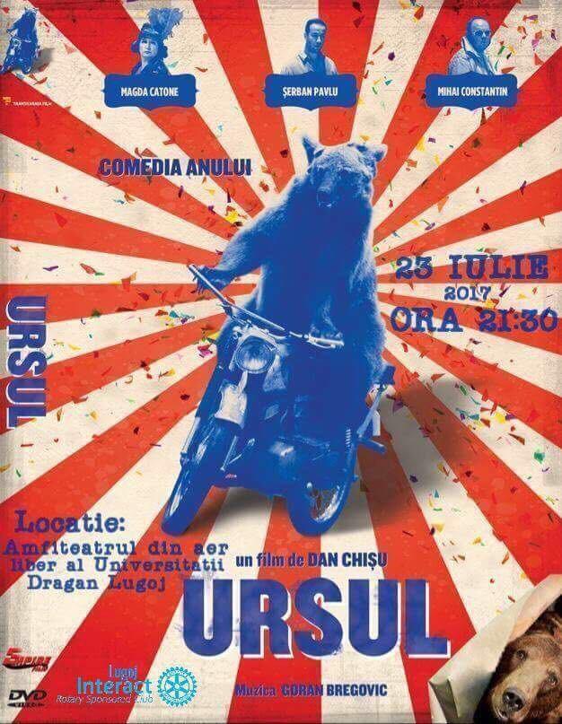 "Lugoj Expres Clubul Interact aduce ""Ursul"" la Lugoj Ursul Lugoj Interact film în aer liber film comedie Clubul Interact Lugoj"