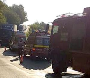 Lugoj Expres Coliziune între un autoturism și un autotren, pe DN 68A victime DN 68A coliziune circulație blocată accident