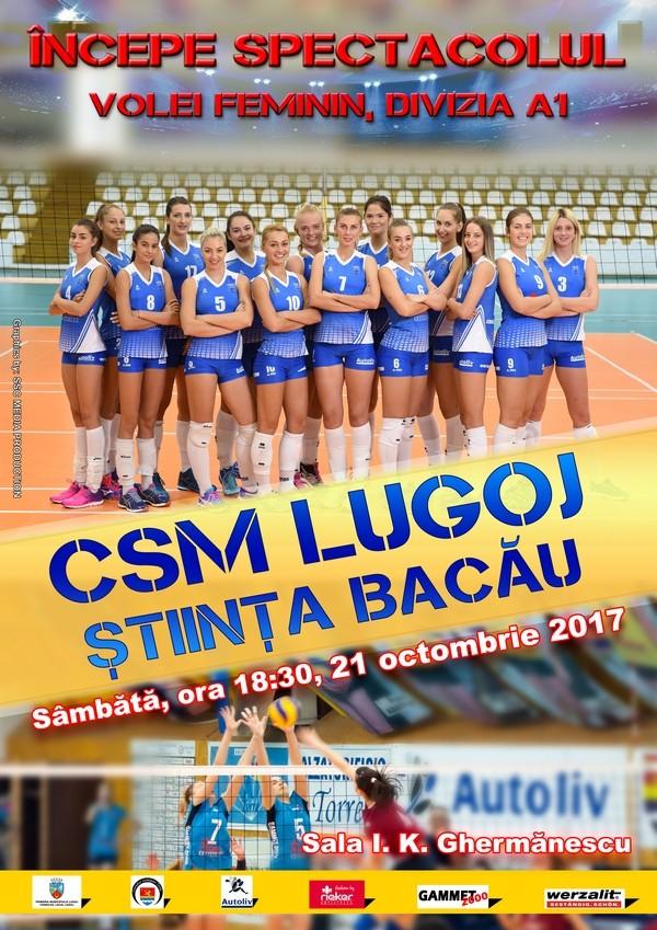 Lugoj Expres Lugojenii, invitați la volei: CSM Lugoj - Știința Bacău volei Știința Bacău prima ligă Divizia A1 CSM Lugoj campionat
