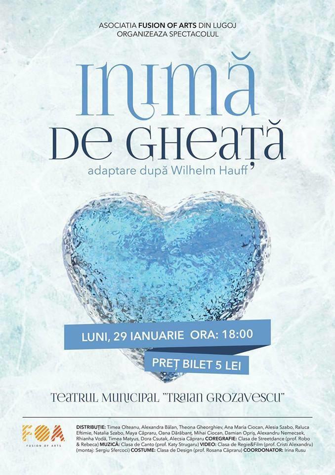 """Lugoj Expres Un spectacol marca FOA: """"Inimă de gheață"""" spectacol Inimă de gheață Fusion of Arts FOA"""