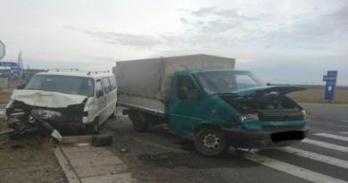 Lugoj Expres Zece persoane implicate într-un accident pe DN 6 microbuz ISU Timiș impact DN 6 autoutilitară accident