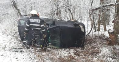 Lugoj Expres Autoturism răsturnat, pe DN 68A, între Lugoj și Făget victimă șofer Lugoj ISU Timiș Făget autoturism răsturnat accident DN 68A accident