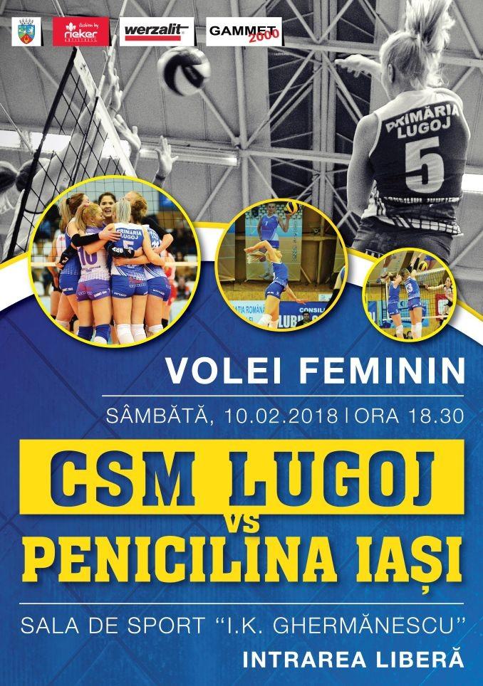 Lugoj Expres Invitație la volei: CSM Lugoj - Penicilina Iași volei Penicilina Iași meci Divizia A1 CSM Lugoj