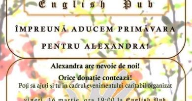 Lugoj Expres Concert caritabil, la English Pub: Împreună aducem primăvara pentru Alexandra! eveniment caritabil English Pub donații concert boală gravă Alexandra Mustață