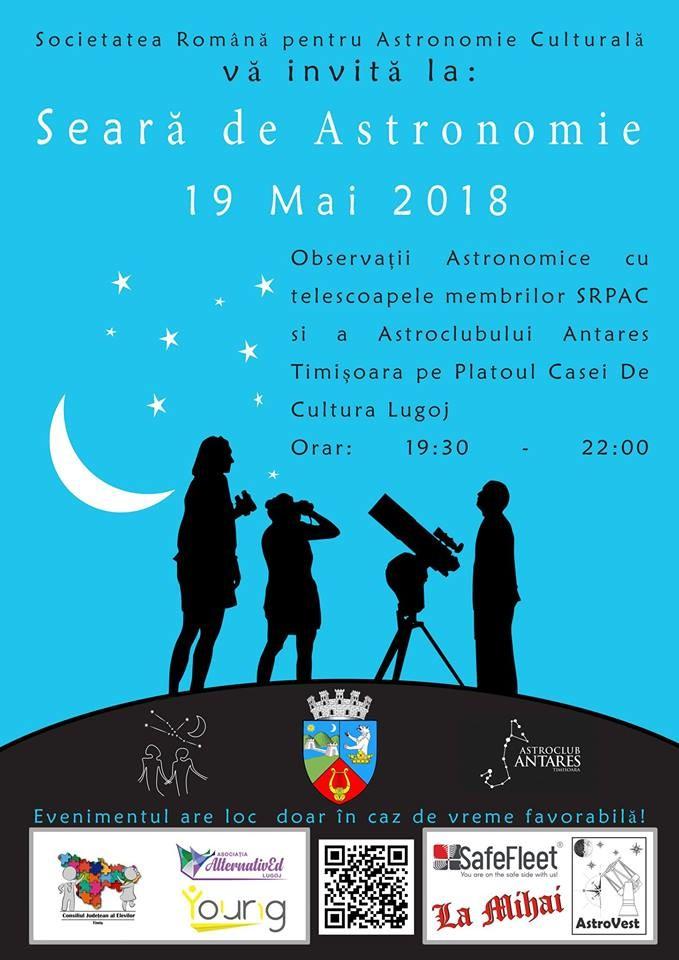 Lugoj Expres Seară de astronomie, la Lugoj telescop astronomic stele Societatea Română pentru Astronomie Culturală observă stelele astronomie