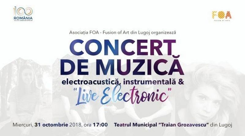 """Lugoj Expres Concert de muzică electroacustică, instrumentală și """"Live Electronic"""" Unfold Motion muzica Lugoj live electronic instrumentală FOA -Fusion of Arts electroacustică concert Compania Alcôme"""