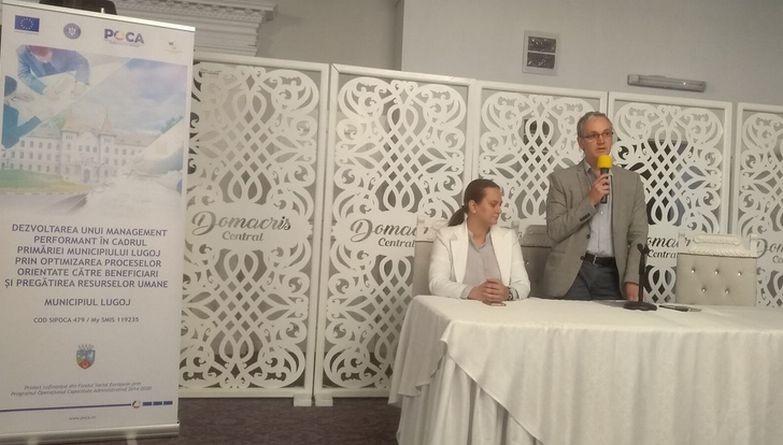 Lugoj Expres Dezvoltarea unui management performant în cadrul Primăriei Lugoj, cu bani de la Fondul Social European servicii publice proiect primăria lugoj managementul calității management ISO 9001 instruire Fondul Social European finanțare nerambursabilă cursuri