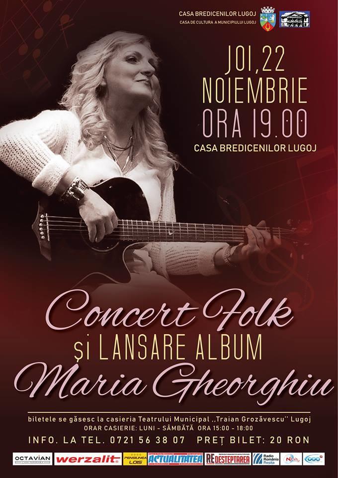 Lugoj Expres Folk la Casa Bredicenilor, cu Maria Gheorghiu Maria Gheorghiu Lugoj folk concert Casa Bredicenilor