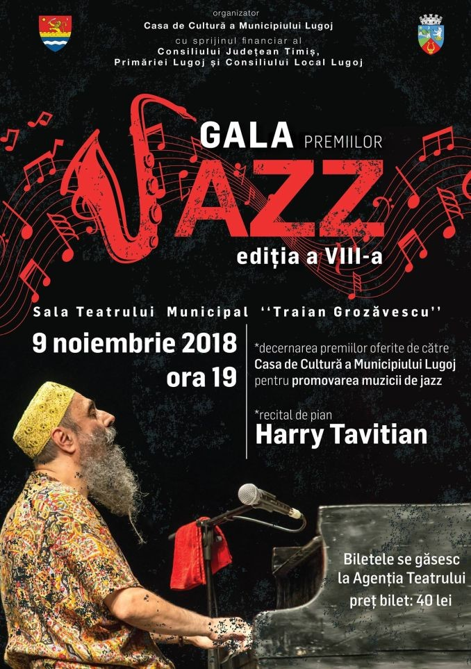 Lugoj Expres Regal de jazz, la Lugoj! Legendarul pianist Harry Tavitian, la Gala Premiilor Jazz regal de jazz pianist legendar muzicieni jazz Lugoj jazz Harry Tavitian Gala Premiilor Jazz gală jazz Lugoj concert